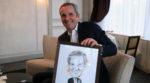 ... le dirigeant s'est prêté au jeu du off et est reparti avec son portrait...