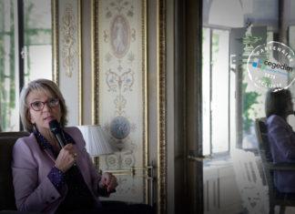 Florence Lustman au Petit déjeuner off de La Lettre de l'Assurance le 8 juillet 2020
